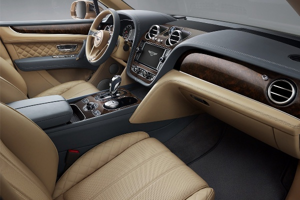 Bentley Bentayaga 2015 interior imagini