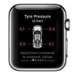 Ceasurile Apple Watch pentru automobile Porsche - presiune in pneuri