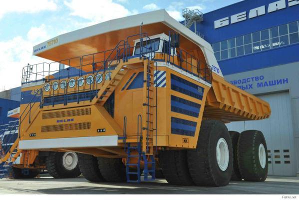 Cel mai mare camion din lume - Belaz 75710 informatii