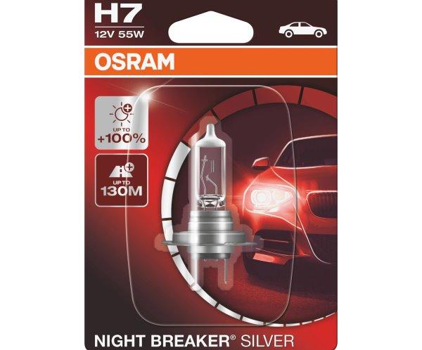 Cele mai bune becuri auto H7 Osram Night Breaker Silver