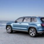 Conceptul CrossBlue SUV-ul cu 7 locuri de la Volkswagen spate
