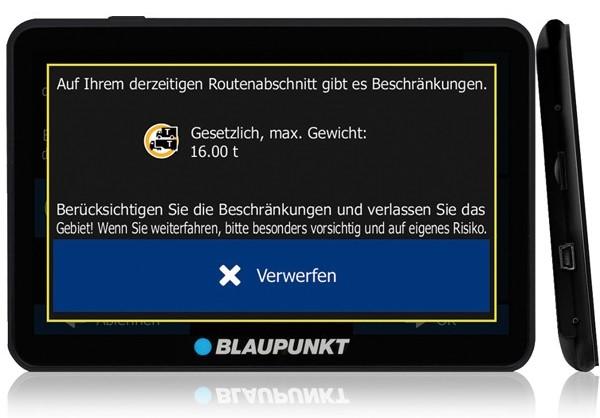 GPS pentru camioane - Blaupunkt TravelPilot 74 Truck EU LMU