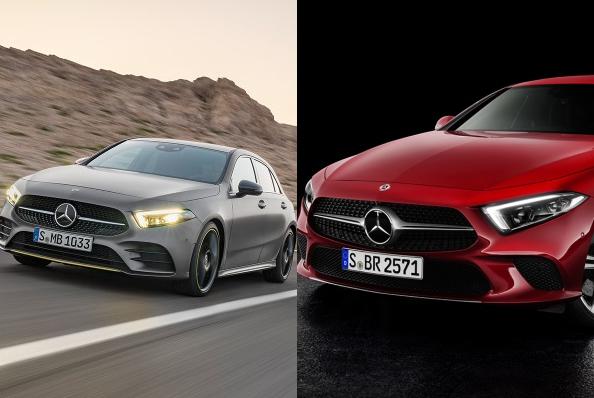 Noul Mercedes A Class 2018 vs. CLS
