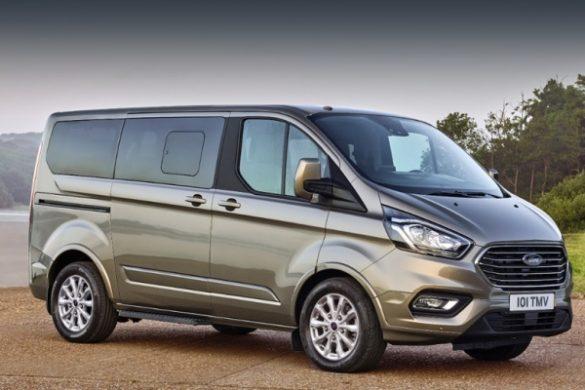 Noul Ford Turneo Custom facelift fata