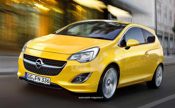 Noul Opel Corsa 2014 yellow