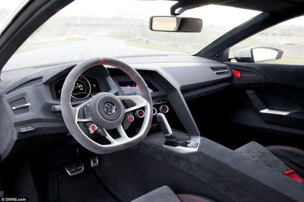 Noul Volkswagen Golf GTI Concept interior