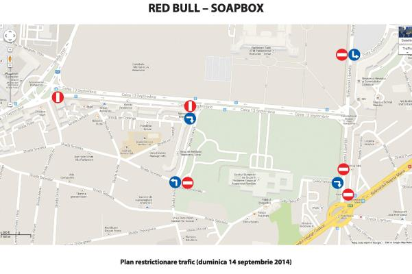 Red Bull Sopabox Race 2014 - harta restrictii trafic