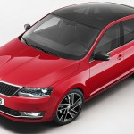 Skoda Rapid 2017 hatchback red