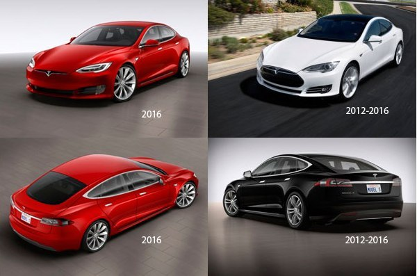 Tesla Model S 2016 facelift vs Tesla Model S pre-facelift